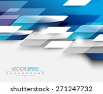 overlapping business elements... | Shutterstock .eps vector #271247732