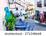 mijas street. charming white... | Shutterstock . vector #271248668