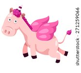 illustrator of unicorn cute | Shutterstock .eps vector #271259066