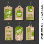 collection of cardboard sales... | Shutterstock .eps vector #271266338