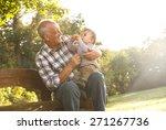 Playful Grandfather Spending...