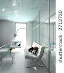 modern interior. 3d render.... | Shutterstock . vector #2712720