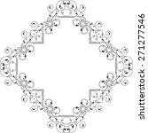 frame border design vector art | Shutterstock .eps vector #271277546