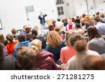 speaker giving a talk at... | Shutterstock . vector #271281275