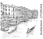 venice   grand canal. the view... | Shutterstock .eps vector #271281416