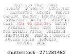 business words printed on... | Shutterstock . vector #271281482