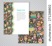 two invitation card design with ... | Shutterstock .eps vector #271288802
