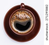 Top View Of A Cup Of Coffee ...