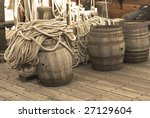 Barrels On The Deck Of Pirates...