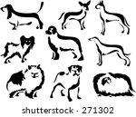 Wobbly Brush Style Dogs