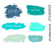 set of hand drawn ink strokes... | Shutterstock .eps vector #271303925
