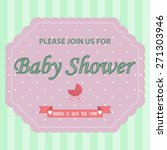 baby shower background with... | Shutterstock .eps vector #271303946
