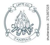 vector let's go camping poster... | Shutterstock .eps vector #271307225