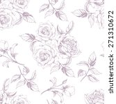seamless  pattern  with roses.... | Shutterstock .eps vector #271310672