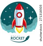 cartoon rocket | Shutterstock .eps vector #271318505
