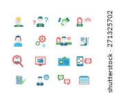 human resources icons  eps 10 ... | Shutterstock .eps vector #271325702