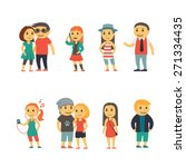 group of people   flat... | Shutterstock .eps vector #271334435