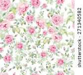 watercolor english roses... | Shutterstock . vector #271340582