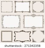 background set. ornate frames... | Shutterstock . vector #271342358