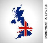 map and flag of uk | Shutterstock .eps vector #271342418