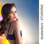 portrait of a girl in lingerie... | Shutterstock . vector #271342562