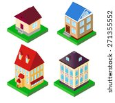 illustration of a set of houses ... | Shutterstock .eps vector #271355552