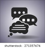 chatting icon | Shutterstock .eps vector #271357676