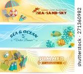 sea beach summer holiday... | Shutterstock .eps vector #271360982