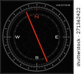 vector compass black | Shutterstock .eps vector #271362422