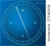 vector compass blue | Shutterstock .eps vector #271362428