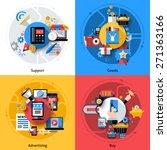 e commerce design concept set... | Shutterstock .eps vector #271363166