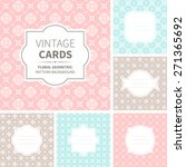 vector set of vintage cards.... | Shutterstock .eps vector #271365692