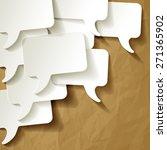 chat speech bubbles vector... | Shutterstock .eps vector #271365902