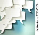 chat speech bubbles vector... | Shutterstock .eps vector #271365908