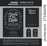 vector set of invitation cards... | Shutterstock .eps vector #271366058