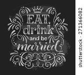 vector wedding design template... | Shutterstock .eps vector #271366082