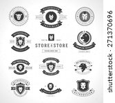 vintage lion logotypes set... | Shutterstock .eps vector #271370696