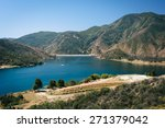 View Of Pyramid Lake  In...