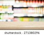 empty table over blur... | Shutterstock . vector #271380296