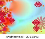 Bright abstract page design illustration - stock photo