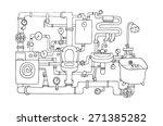 sanitary engineering   Shutterstock .eps vector #271385282