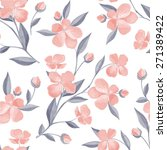 spring flowers. seamless floral ... | Shutterstock .eps vector #271389422