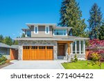 cozy house on a sunny day. home ... | Shutterstock . vector #271404422