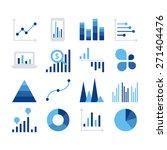 business data market elements...   Shutterstock .eps vector #271404476