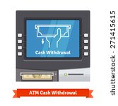 atm teller machine with current ... | Shutterstock .eps vector #271415615