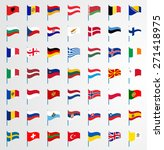 dynamic waving flag on pole... | Shutterstock .eps vector #271418975