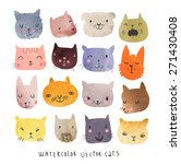 16 Cute Watercolor Cats In...