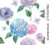 Watercolor Hydrangea And...
