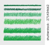 vector set for combining grass | Shutterstock .eps vector #271434662