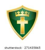 crucifix holly christian cross... | Shutterstock .eps vector #271435865